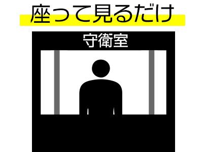 【Wワーク歓迎】座ってみるだけ!2時間だけの監視業務!