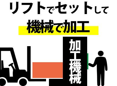 ★8:00~日勤★機械オペ⇒時給1300円!◆正社員登用有◆【リフトの資格も取れます!】