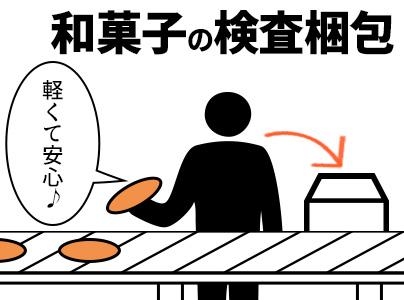 ★残業なし!★日勤専属! 和菓子の検査・梱包!