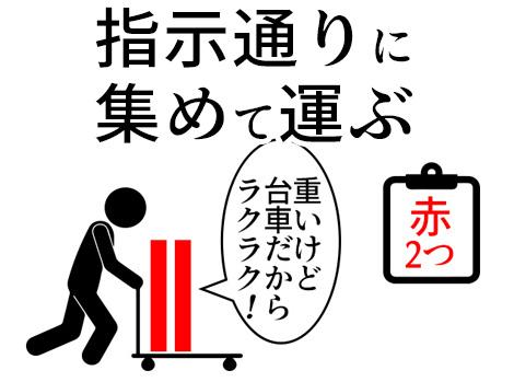 日勤専属!【土日祝休み+1250円!】集めて運ぶだけ!